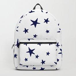 Stars - Navy Blue on White Backpack