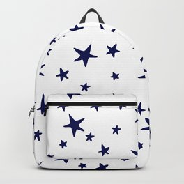 Stars - Navy Blue on White Backpack