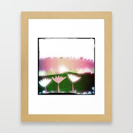A camper's view Framed Art Print