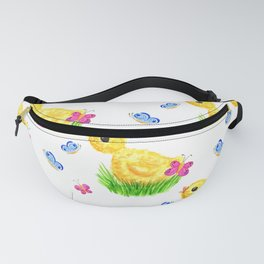 Chicken and butterflies Fanny Pack