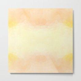Kaleidoscopic design in soft yellow colors Metal Print
