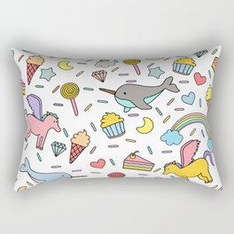 Pegasuses, Narwhals & Sugary Treats Rectangular Pillow