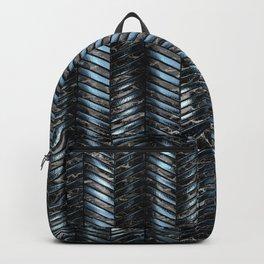 Alien Columns - Blue and Black Backpack