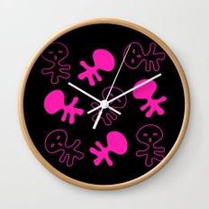 Aliens-Pink Wall Clock