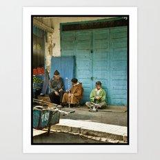 North African tea time Art Print