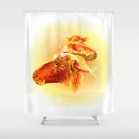 sheep Shower Curtains featuring Sheep by Eric Bassika