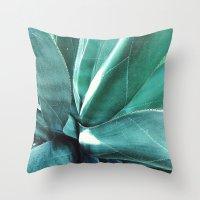 cactus Throw Pillows featuring Cactus by Alexandra Str
