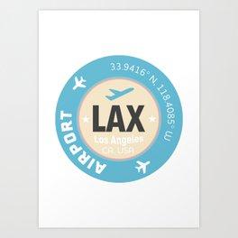 Los Angeles airport Art Print