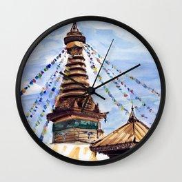 Swayambhunath Stupa Kathmandu Nepal Wall Clock