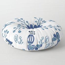 Porcelain Flowers Floor Pillow