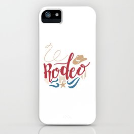 Rodeo Wild West iPhone Case
