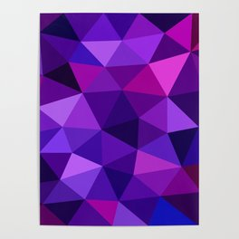 Crystal Galaxy Low Poly Poster