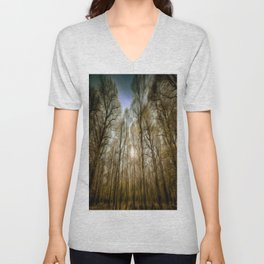 The Forest Sunset Art Unisex V-Neck