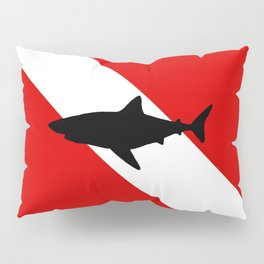 Diving Flag: Shark Pillow Sham