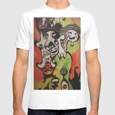 the joke isn't funny anymore Mens Fitted Tee White MEDIUM