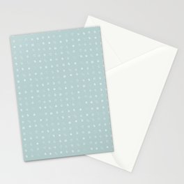 Ditsy Organelles - White on Mint Stationery Cards