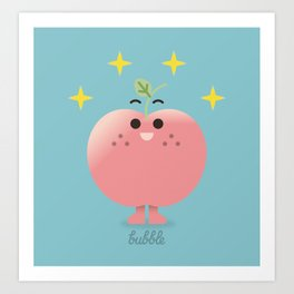 Happy Apple  Art Print