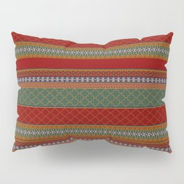 Traditional Romanian embroidery pixel Pillow Sham