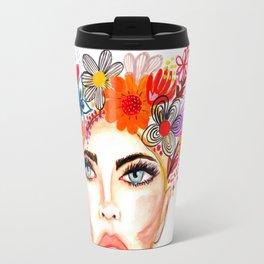 Nude Lips & Flowers Travel Mug