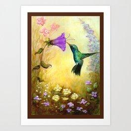 The Garden Guest Art Print