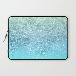 Seafoam Aqua Ocean MERMAID Girls Glitter #1 #shiny #decor #art #society6 Laptop Sleeve