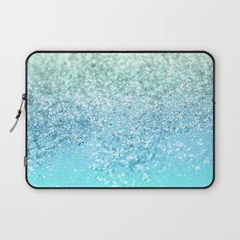 Seafoam Aqua Ocean MERMAID Girls Glitter #1 #shiny #decor #art #society6 Laptop Sleeve