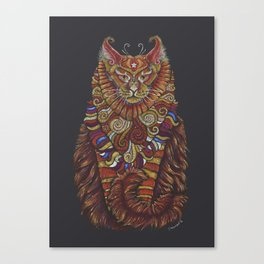 Maine Coon Cat Totem Canvas Print
