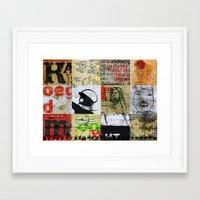 notebook Framed Art Prints featuring SCHOOL NOTEBOOK by db Waterman