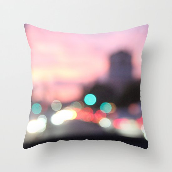 evening road Throw Pillow