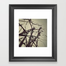 Snow fall in the field. Framed Art Print