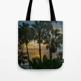 Sunset Through the Palms Tote Bag