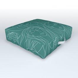 Green Ladies Outdoor Floor Cushion