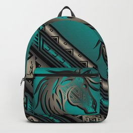 Horse Nation (Aqua) Backpack