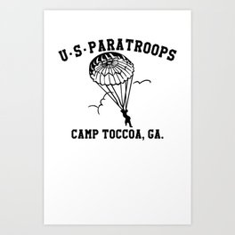 Camp Toccoa PT Shirt Art Print