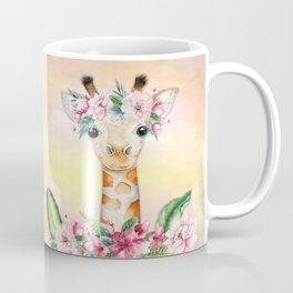 Giraffe Floral Mug Coffee Mug
