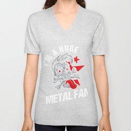 Metalcore Guitarists Hard Rock Music Lovers Blues Funk Band Gift I'm A Huge Metal Unisex V-Neck