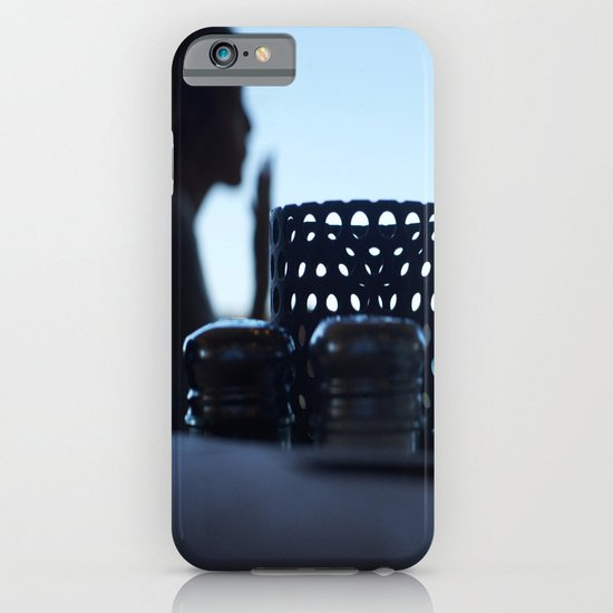 breakfast at Tiffany's in blue iPhone & iPod Case
