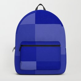 Four Shades of Blue Square Backpack