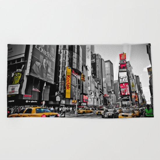 Times Square - Hyper Drop Beach Towel