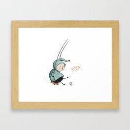 Goji on the swing Framed Art Print