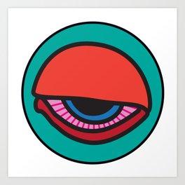 """All-nighter"" Surviving Art School Badge Art Print"