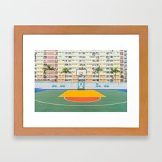 BASKETBALL COURT Framed Art Print