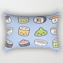 Happy kawaii sushi pattern Rectangular Pillow