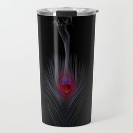 Peacock Feather-The flame is over Travel Mug