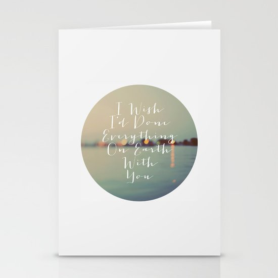 Everything On Earth Stationery Cards