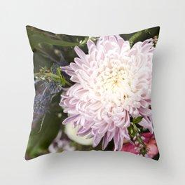 Dahlia in Bloom     Fresh Cut Flowers Throw Pillow