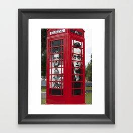 London Red Phone Box Framed Art Print