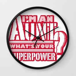 I'm An Aunt Mother Day Mom Present Wall Clock