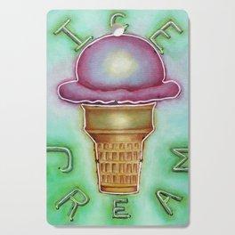 Neon Ice Cream Cutting Board