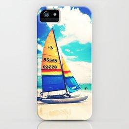 Siesta Key, FL - Sailboat iPhone Case